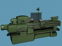 lathe turner turnery 3d model