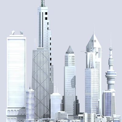 commercial buildings 3d model