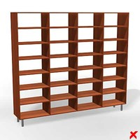 free furniture cabinet bookcase 3d model