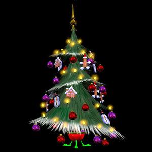 3d model of holiday christmas tree pzsg