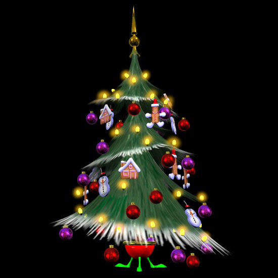 3d model of holiday christmas tree pzsg
