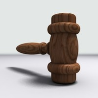 judge gavel 3d model