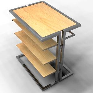 3d model of merchandiser retail fixture