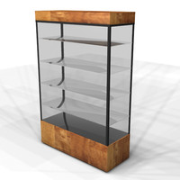 display case retail 3d model