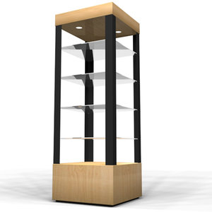 display case retail 3d model