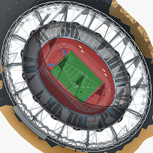 olympic stadium london 3d model