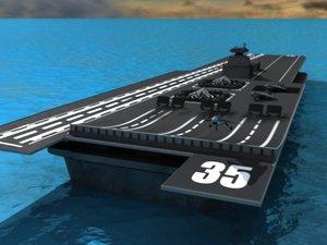 3d future aircraft carrier model