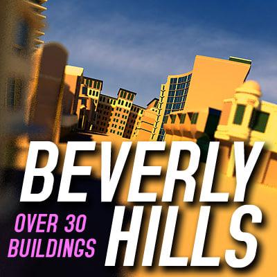 axel beverly hills 3d model