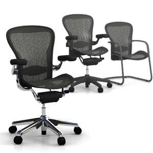 aeron chairs 3d model