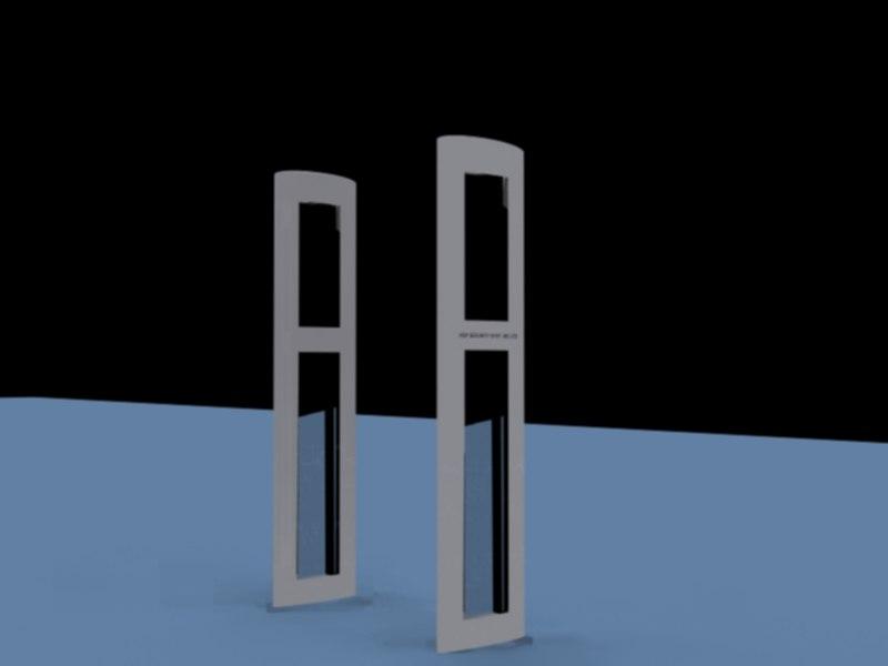 free alarm detector 3d model