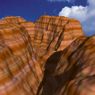 high-resolution canyon landscape 3d model