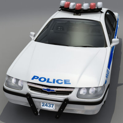 accurate nypd chevy impala 3d model