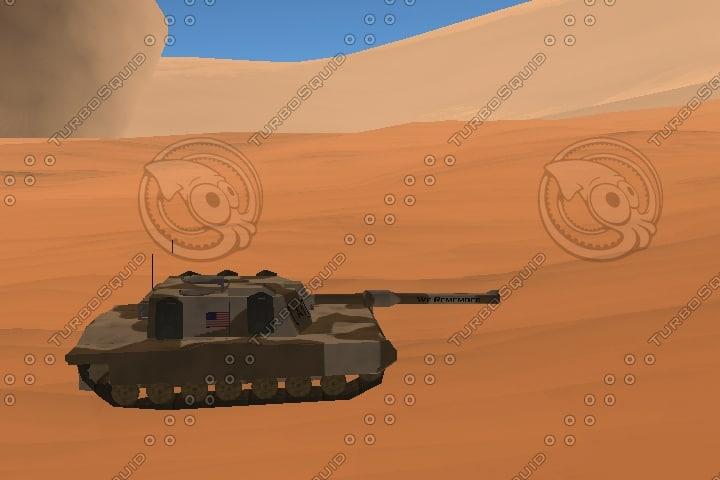 m1a1 tank humvee 3d model