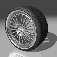 3d hre 449r wheel tires model