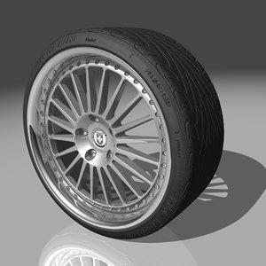 3d hre 449r wheel tires model