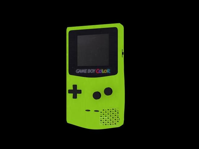 free green gameboy 3d model