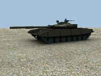 russian t72 tank 3d model
