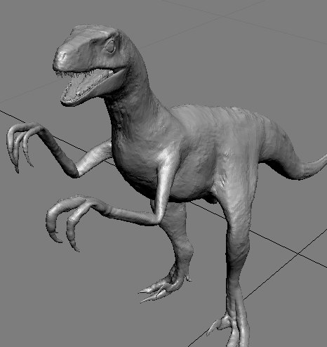 horror valasa raptor 3d model
