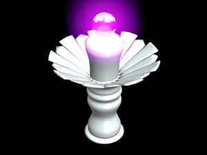 free glowing orb pedestal 3d model