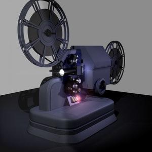 projector cinematograph 3d model