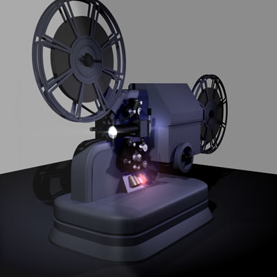 projector cinematograph 3d model