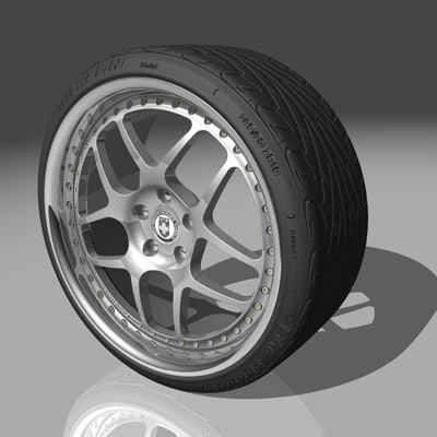 3ds max hre 541r wheel tires