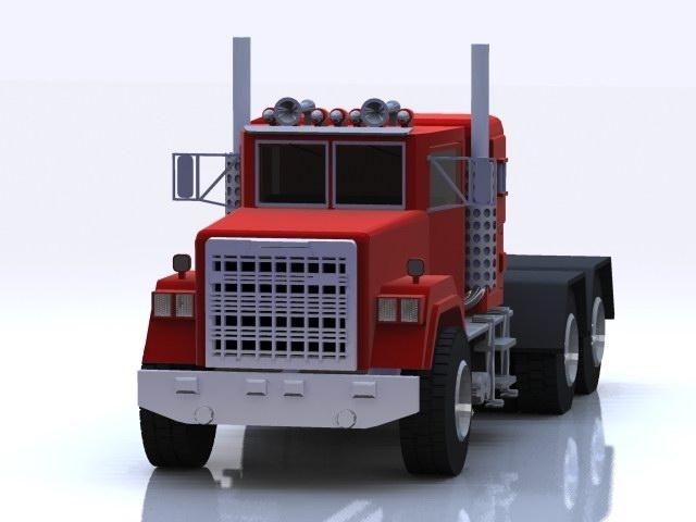 industrial truck vehicle 3d model