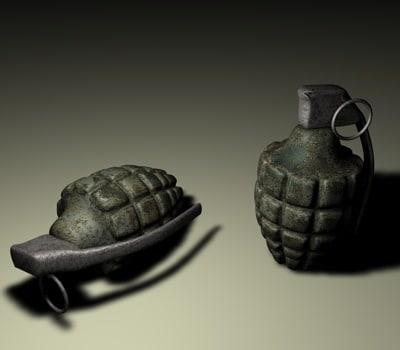 frag grenade c4d