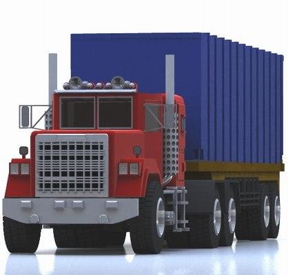 3d 3ds industrial truck