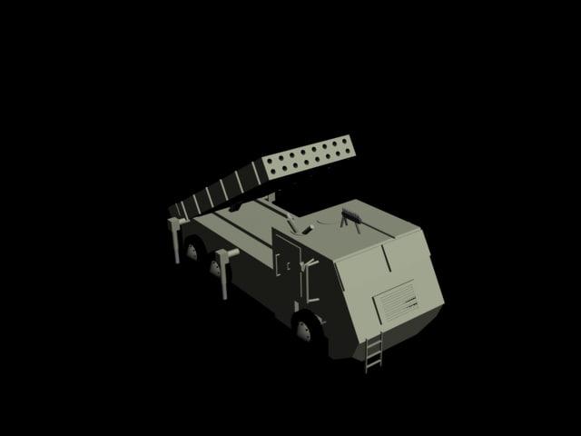 avibras astros artillery rocket 3d model