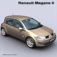 renault megane ii 3d model