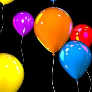 party balloons 3d model