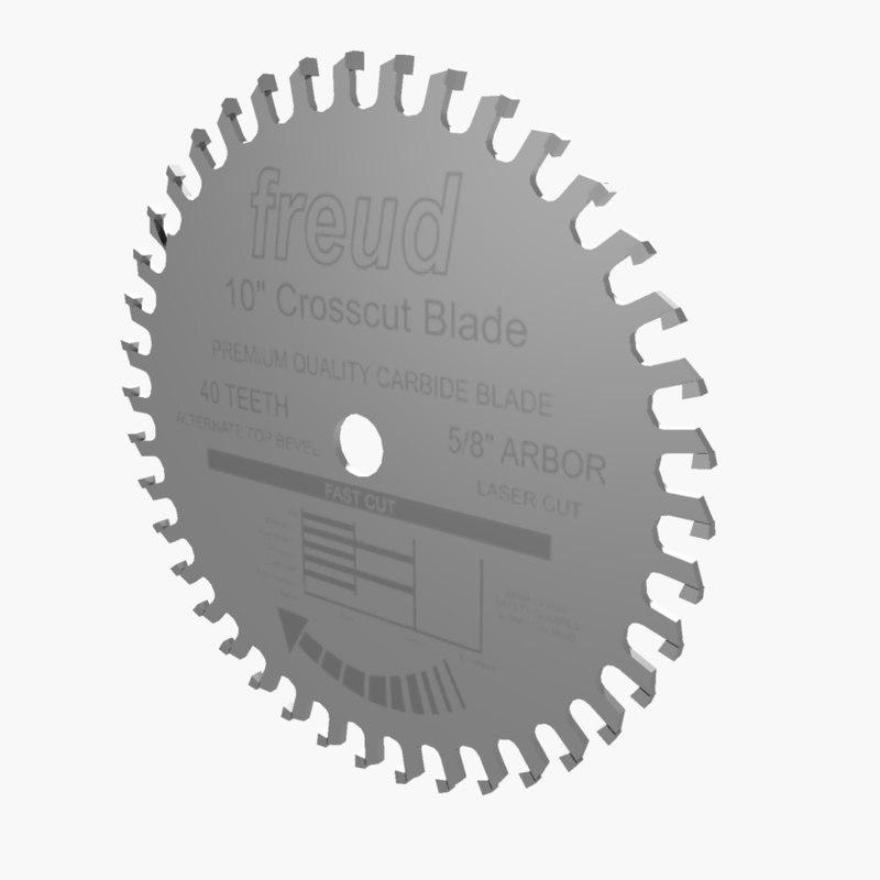 3d saw blade model