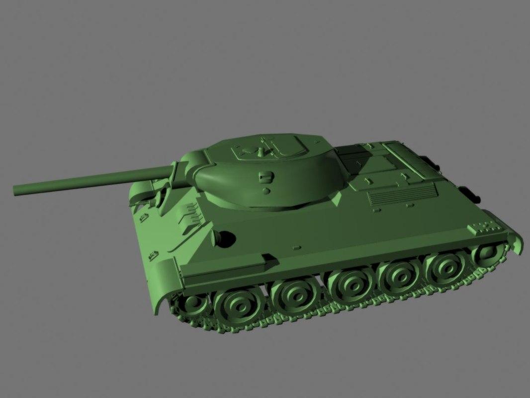 3d model t-34