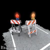 3d a-frame barricade