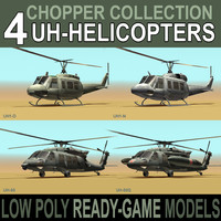 chopper engines blackhawk 3d model
