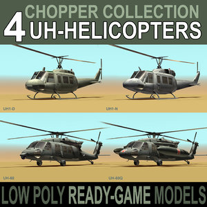 chopper engines blackhawk 3d model