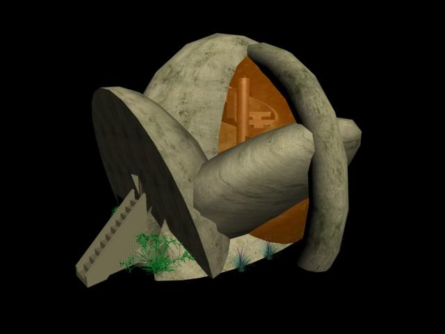 alien house 3d model