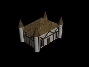 3d model tudor building toybox