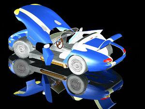3d dodge viper sport car model