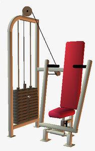 fitness equipment seated chest 3d model