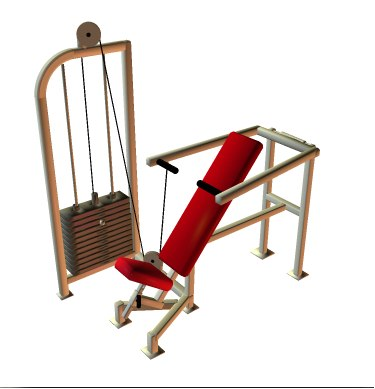 poser fitness equipment inclined bench press