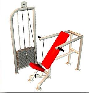 fitness equipment seated shoulder 3d model