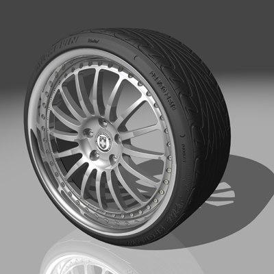 hre 549r wheel tires 3d max
