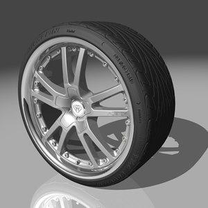 azev ps wheel tires 3d max