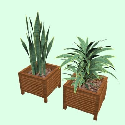 3d model planters office