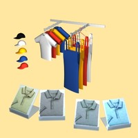 retail clothing dress caps 3d model