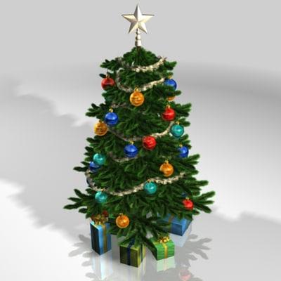 3d x christmas tree