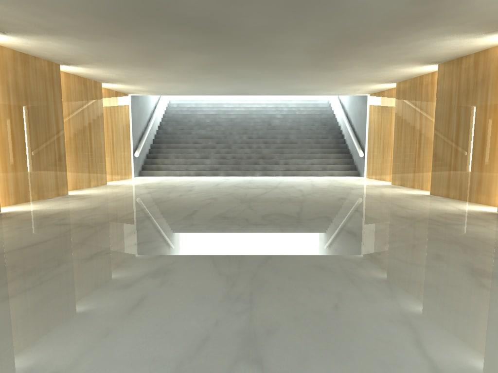 walkway 3d model