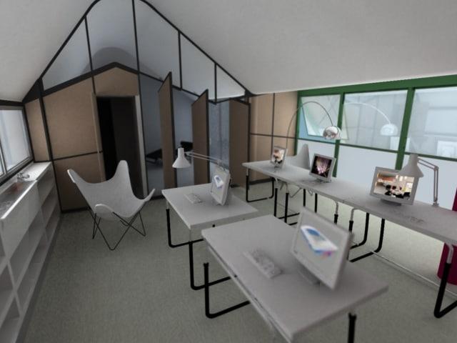 3d model interior architecture office furniture